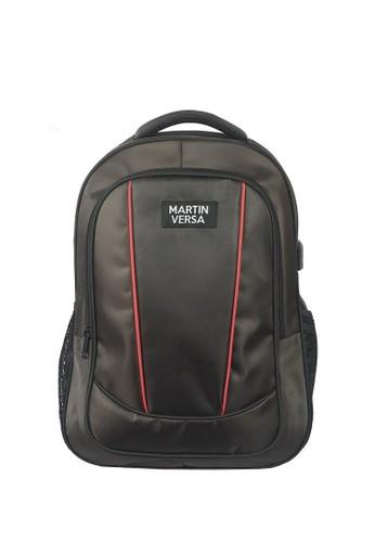 Martin Versa brown Polo Backpack Laptop USB Extender - Canvas Bag TP03 Brown 397BCAC63E7B54GS_1