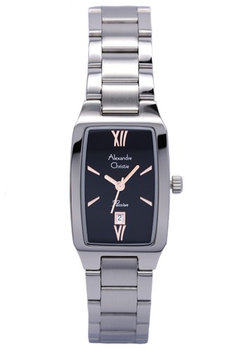 Alexandre Christie silver Alexandre Christie 2455 - Jam Tangan Wanita - Stainless Steel - Hitam Silver 76C8BACFAAF51AGS_1