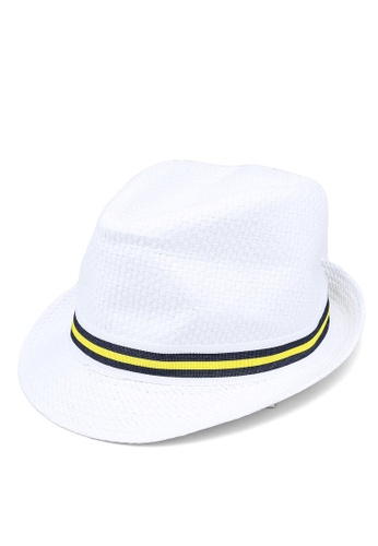 Du Pareil Au Même (DPAM) white Boys' Fedora Hat DCD90KCFC382C0GS_1