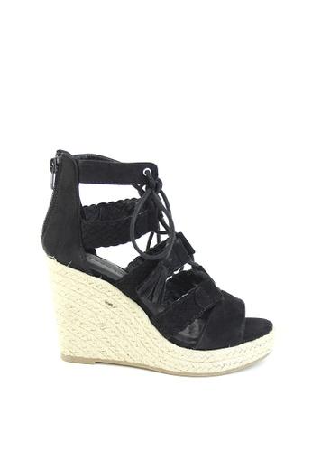 London Rag 黑色 London Rag 女士黑色坡跟凉鞋 7F330SH42B5CD4GS_1