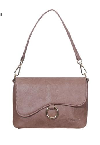 Verchini pink Verchini Asymmetrical Shoulder Bag 69D42ACBDB0DA9GS_1