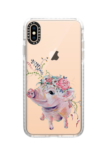 Casetify white Pearl The Pig Impact Protective Case for iPhone XS Max 76EF8AC5B2CF65GS_1