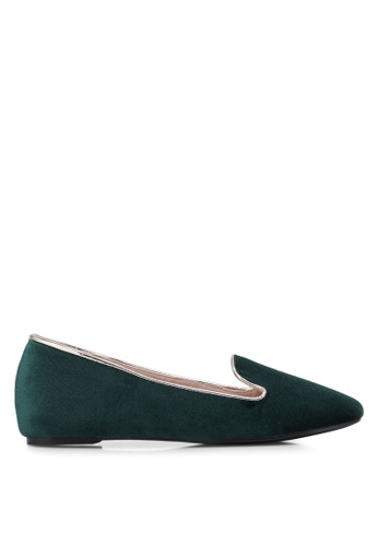 Nose green Velvet Flat Pumps NO327SH0S6TNMY_1