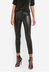 Dorothy Perkins black Petite Coated Glitter Frankie Jeans DO816AA0SB7CMY_1
