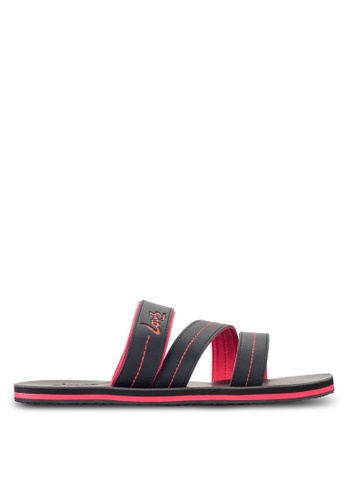 Louis Cuppers black Contrast Stitch Sandals LO977SH28RDFMY_1