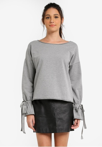 ESPRIT grey Long Sleeve Sweatshirt ES374AA0SJQFMY_1
