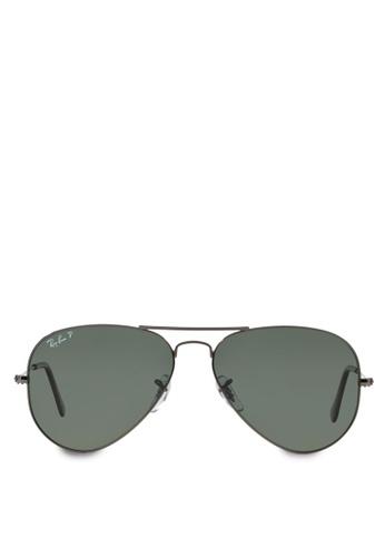 Ray-Ban grey Aviator Large Metal RB3025 Polarized Sunglasses  RA370GL44SADSG 1 4e78b4299d