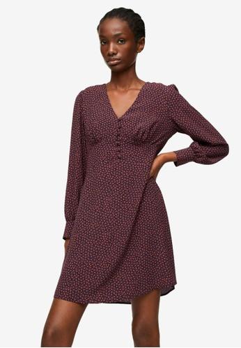 Mango red Printed Short Dress 819D2AA322D12FGS_1