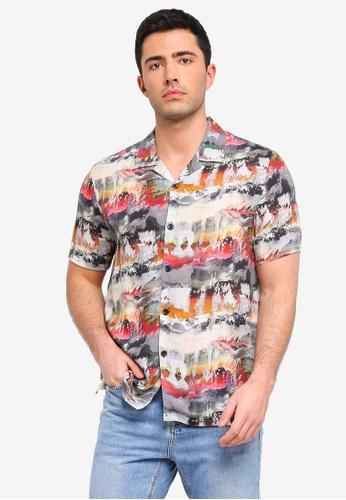 Topman multi Multi Texture Shirt 60E69AA24E362CGS_1