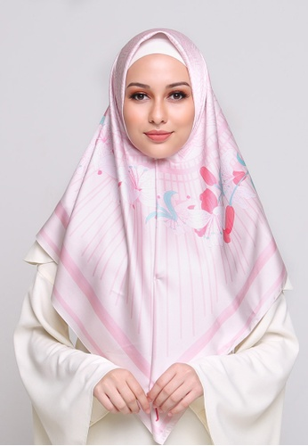 Buy Jovian Jhijab Printed Malika Baby Pink Online Zalora Malaysia