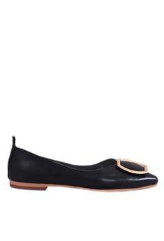 9b7409607c2f Twenty Eight Shoes black Ring Buckles Ballerinas VL90281 D3066SHB660E50GS 1