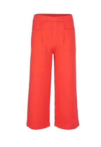 Gen Woo orange Wide leg Cropped Trouser By Gen Woo 0ECB3KA74B4E18GS_1