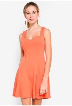 2c5866601f Dressing Paula pink Skater Dress With Sweetheart Neckline 81003AAFCD64FDGS 1