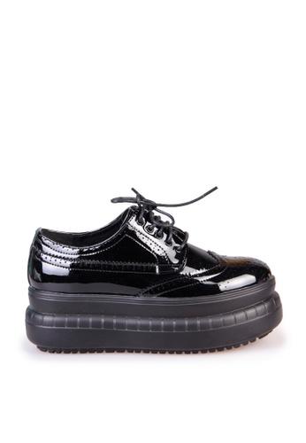 Sunnydaysweety black New Stylish Carved Strap Platform Shoes C03253BK SU443SH2VQCGHK_1