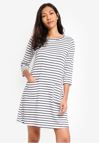 ZALORA BASICS multi Basic Pocket Front Swing Dress 794C5AA0AD0456GS_1