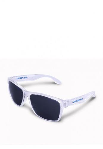 504f9fea5 Rudy Project white Spinhawk Eyewear in Crystal Smoke Lenses SP311096-0000  78DD0GL0F7C71FGS_1