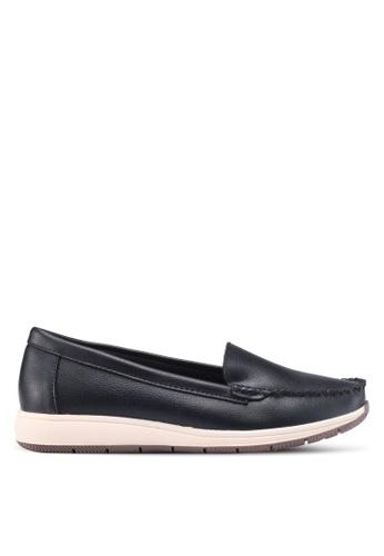 Noveni 黑色 懶人樂福鞋 AC7B5SH08C0E2BGS_1