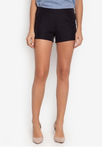 Courier black Easy Plain Shorts 79C38AABA01A8CGS_1