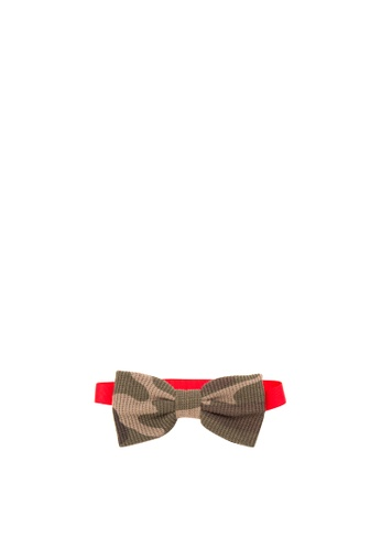 BARBA green Ribbed Camo Bow Tie BA953AC35WKQPH_1