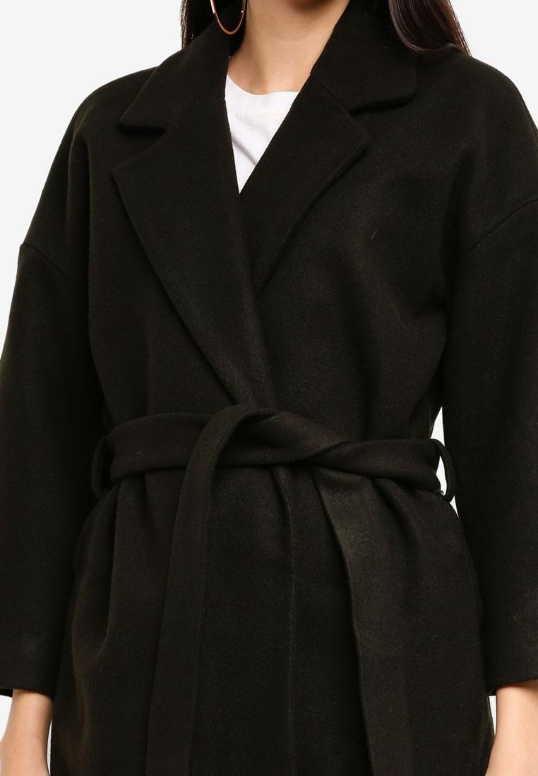 Coat Lara Peat Lining Sleeve 8 Wool Stripe 7 ONLY FwXZ6w