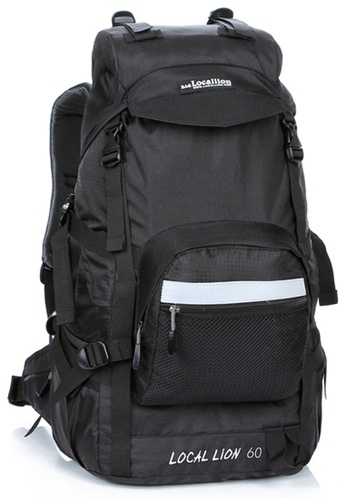Local Lion black Local Lion Steel Support Water Resistant Hiking Backpack L STEEL 60L (Black) LO780SE94VOBMY_1