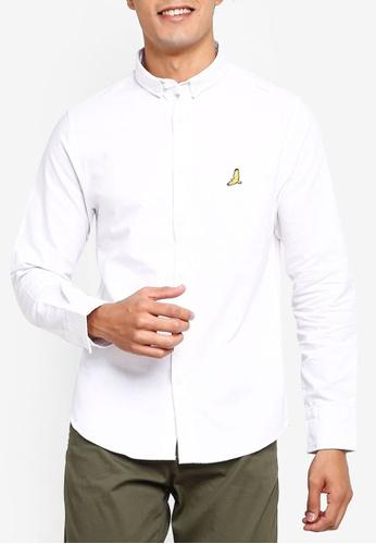 Brave Soul 白色 長袖小鳥刺繡襯衫 D68A2AA3317A7CGS_1