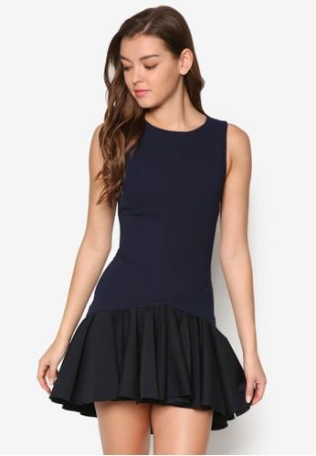 Symon 撞色荷葉擺無袖連身裙、 服飾、 夏日洋裝MDSCollectionsSymon撞色荷葉擺無袖連身裙最新折價