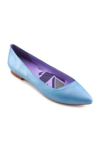 Flatss & Heelss by Rad Russel blue Mischa Basic Flats FL655SH30RWBSG_1