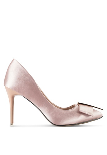 Nose pink Pointed Heel Pumps With Bow Detail NO327SH84SJRMY_1
