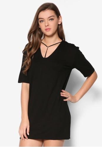 Harness T esprit品牌介绍字帶直筒式洋裝, 服飾, 洋裝