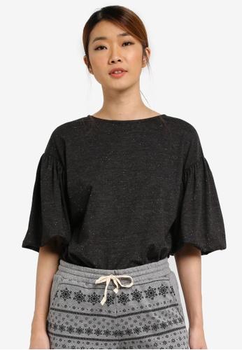 UniqTee black Bell Sleeve Top UN097AA0SHDJMY_1