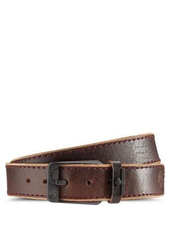 Lumberjacks brown Lumberjacks 40mm Genuine Leather Belt LU545AC58DOFMY_1