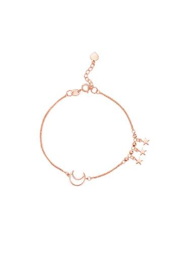 CHOW TAI FOOK Jewellery gold CHOW TAI FOOK 18K 750 Rose Gold Bracelet - Moon & Stars Karat Gold E124813 E3EF6AC3DCB72BGS_1