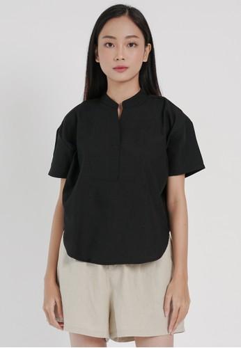 DARA black Hana Top in Black 80A11AA75824FBGS_1