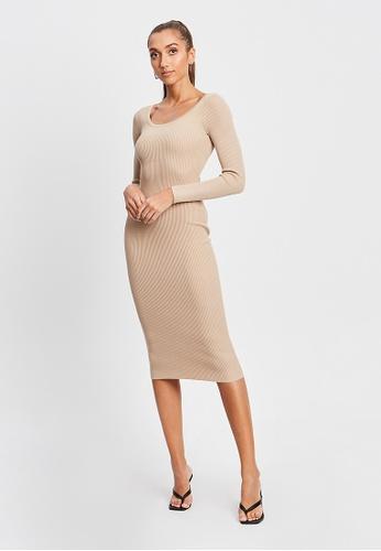 BWLDR brown Bowie Knit Dress 82A28AAC3E394DGS_1
