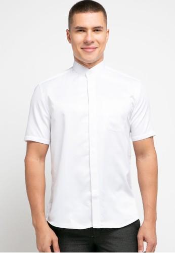 LORIENT white Lorient Short Sleeves Aidan Slim Shanghai Collar B9B92AA2AC6B3AGS_1