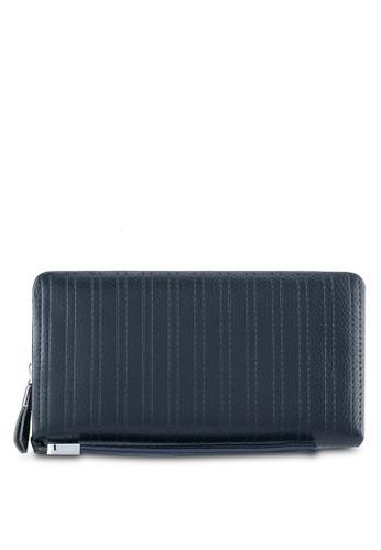 ZALORA navy Leather Oversized Wallet 46BF8ZZ27AEC22GS_1
