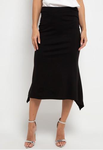 h2 harlan black Bias Back Skirt 36BF9AA572B064GS_1