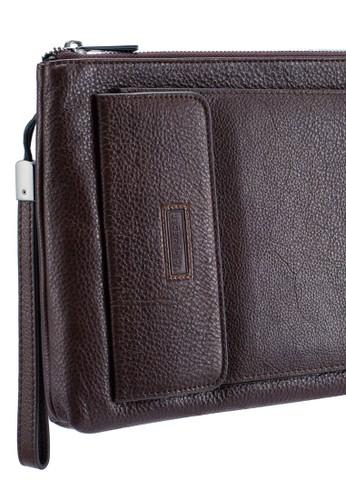 Volkswagen brown Volkswagen Genuine Leather Clutch Bag 03A19ACEB6142CGS_1