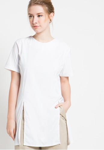 Magnificents Ladies white Slide Short Sleeve Blouses MA179AA10YQZID_1