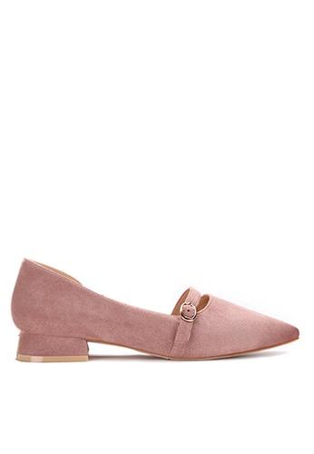 Twenty Eight Shoes 粉紅色 優質絨布尖頭鞋903-1 FE0E4SH181C0BEGS_1