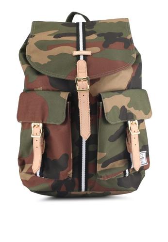 Herschel green and multi Dawson Backpack 90251AC17195D4GS_1