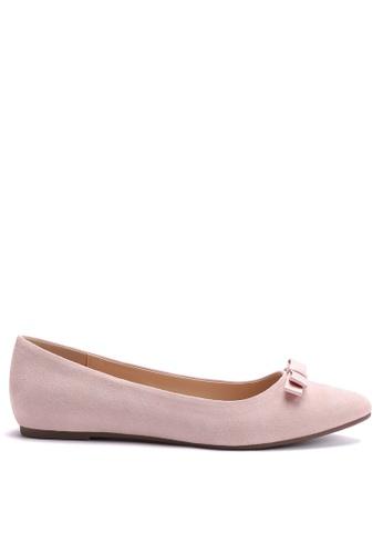 Twenty Eight Shoes 粉紅色 時尚休閒絨面平底鞋 888-2 B7B09SH1D1C978GS_1