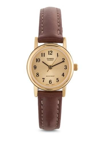數字esprit hong kong 分店皮革圓框女錶, 錶類, 飾品配件