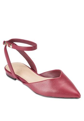 Brieniesprit hk分店 尖頭繞踝平底涼鞋, 女鞋, 鞋
