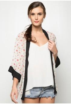 Cacey Two Tone Kimono Top