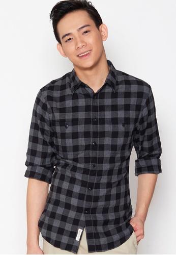 Dockers black Dockers Long Sleeve Wrinkle Twill Shirt Devin - Black C9FF1AACD56543GS_1