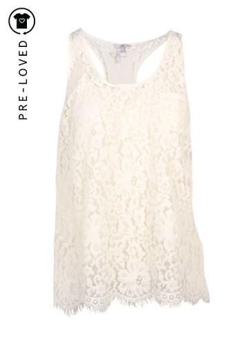 Joie beige Pre-Loved joie Cream Lacey Top C9178AA15BBAEFGS_1