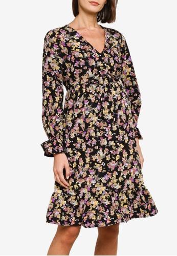 Mama.licious black Maternity Emra Long Sleeve Dress E9945AA5913E63GS_1
