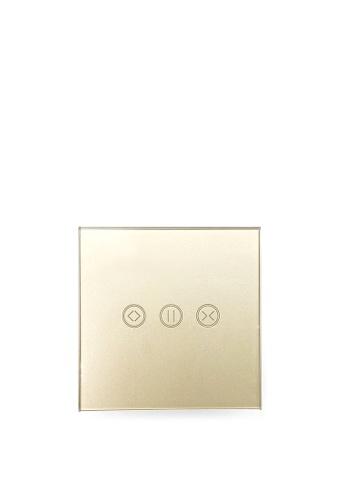 UKGPro 金色WiFi無線一體化輕觸式智能窗簾開關,室內改裝安裝電燈窗簾抽氣扇場景燈制手機APP UKG Smart Life語音操控安卓iOS零火供電(U-DS151-GD) 1DE75HL3585C5AGS_1